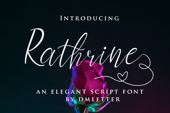 Print on Demand: Rathrine Script & Handwritten Font By dmletter31