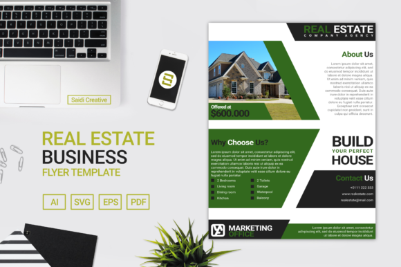 Real Estate Business Flyer Template Design Graphic Print Templates By Saidi Creative
