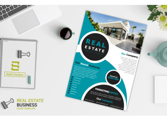 Real Estate Business Flyer Template Graphic Download