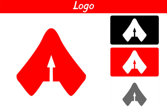 Print on Demand: Red a Logo Graphic Icons By Arief Sapta Adjie