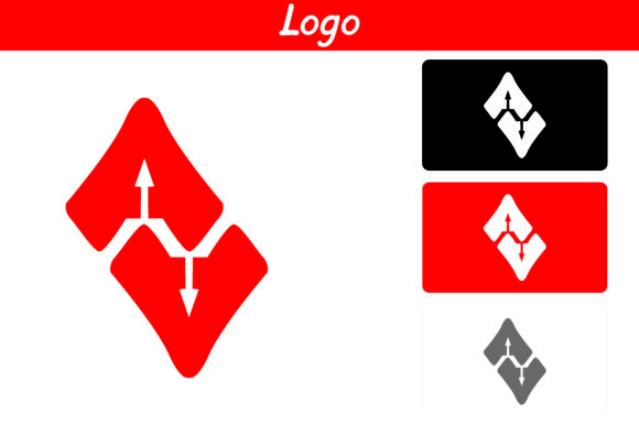 Print on Demand: Red AA Logo Graphic Icons By Arief Sapta Adjie