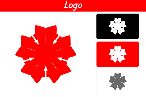 Print on Demand: Red Flower Logo Graphic Icons By Arief Sapta Adjie