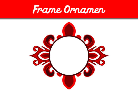 Red Frame Ornament Graphic By Arief Sapta Adjie Image 1
