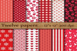 Red Digital Papers Graphic By twelvepapers