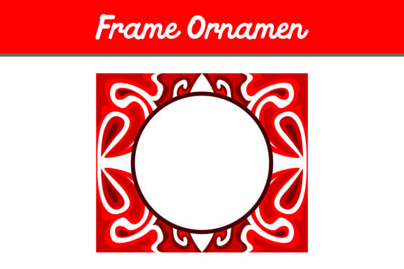 Print on Demand: Red Frame Ornament Graphic Backgrounds By Arief Sapta Adjie - Image 1