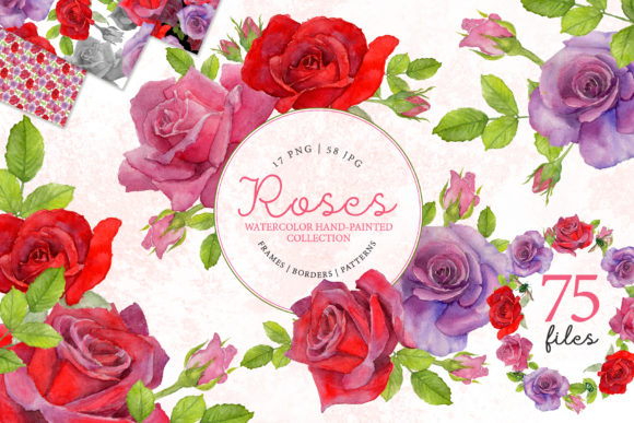 Print on Demand: Red Rose Elegant Watercolor Png Graphic Crafts By MyStocks