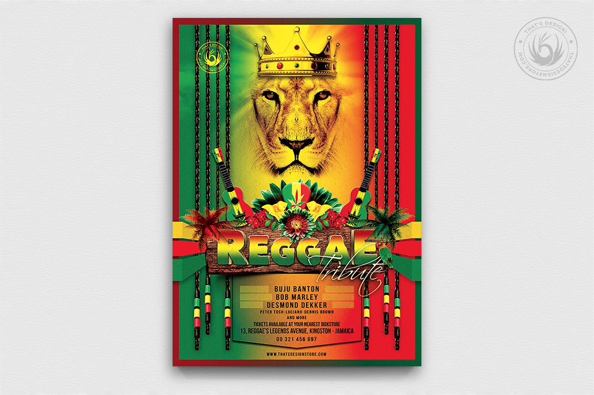 Download Free Reggae Tribute Flyer Template Grafik Von Thatsdesignstore for Cricut Explore, Silhouette and other cutting machines.