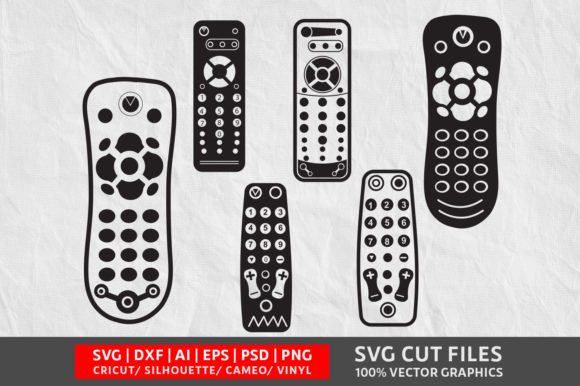 Download Free Remote Graphic By Design Palace Creative Fabrica for Cricut Explore, Silhouette and other cutting machines.