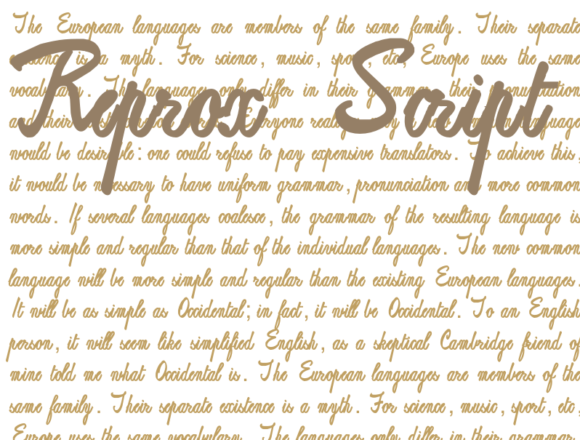 Print on Demand: Reprox Script Script & Handwritten Font By Intellecta Design