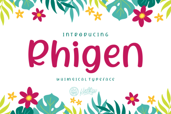 Print on Demand: Rhigen Script & Handwritten Font By Keithzo (7NTypes)