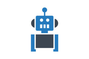 Download Free Robot Icon Graphic By Rudezstudio Creative Fabrica for Cricut Explore, Silhouette and other cutting machines.