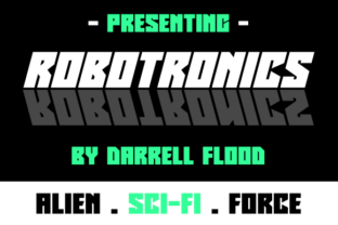 Print on Demand: Robotronics Display Font By Dadiomouse