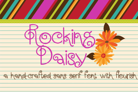Print on Demand: Rocking Daisy Script & Handwritten Font By Illustration Ink