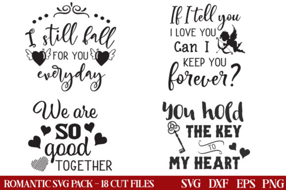 Download Free Romantic Bundle Graphic By Nerd Mama Cut Files Creative Fabrica for Cricut Explore, Silhouette and other cutting machines.