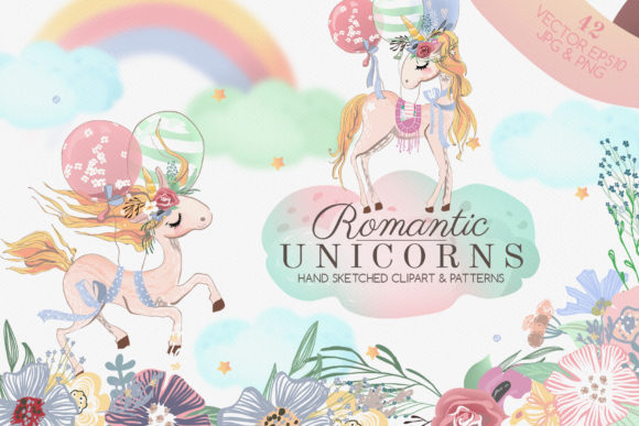 Romantic Unicorns Graphic By Anna Babich