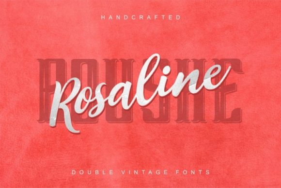 Print on Demand: Rosalina Boushe Duo Script & Handwritten Font By bywahtung