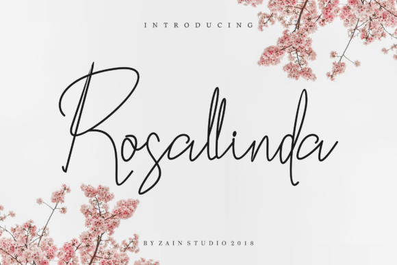 Print on Demand: Rosallinda Script & Handwritten Font By zainstudio