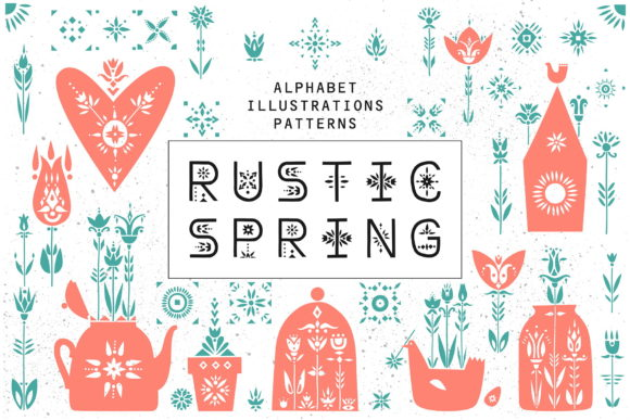 Print on Demand: Rustic Spring - Graphic Collection Graphic Illustrations By struvictory - Image 1