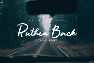 Ruthen Back Font By JavaPep