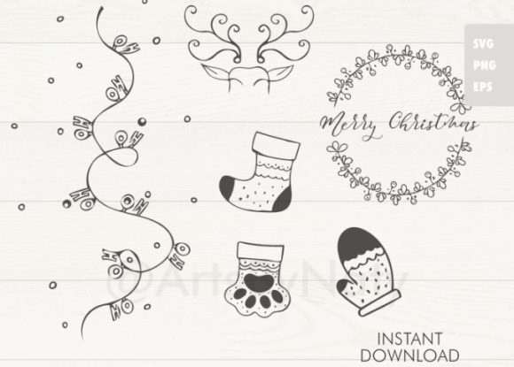 Print on Demand: Christmas Bundle Graphic Illustrations By artsbynaty