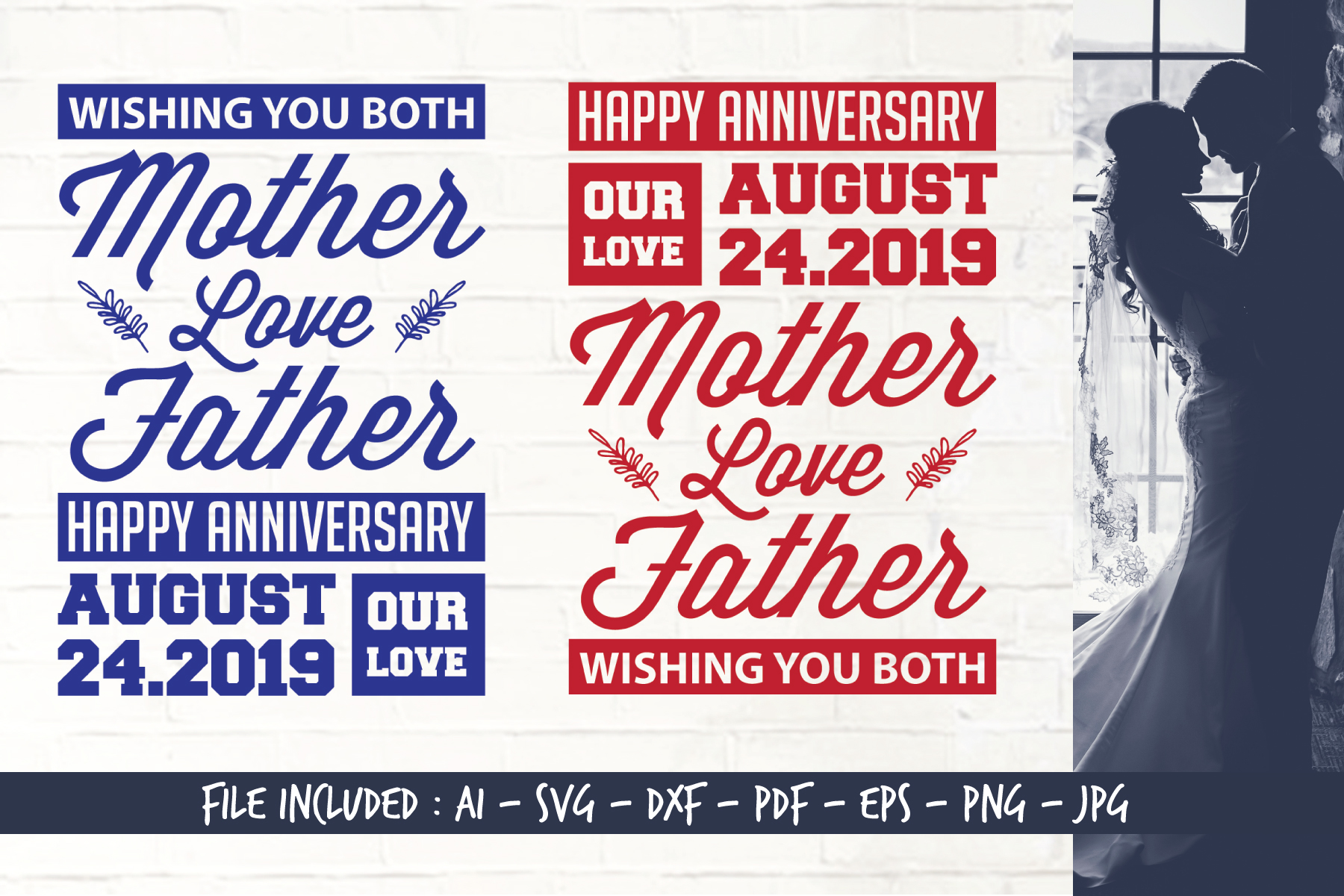 Download Free Happy Anniversary Graphic By Home Crafter Design Co Creative for Cricut Explore, Silhouette and other cutting machines.