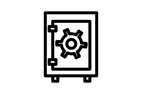 Download Free Safe Icon Graphic By Rudezstudio Creative Fabrica for Cricut Explore, Silhouette and other cutting machines.