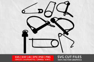 Safety Pin SVG Graphic By Design Palace
