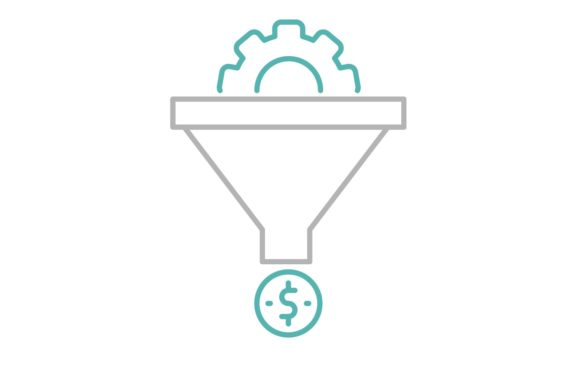 Print on Demand: Sales Funnel Icon Gráfico Iconos Por back1design1