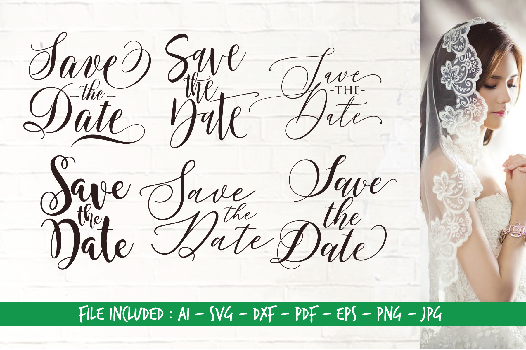 Download Free Save The Date Bundle Graphic By Home Crafter Design Co for Cricut Explore, Silhouette and other cutting machines.