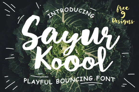 Print on Demand: Sayur Koool Script & Handwritten Font By Lettersiro Co. - Image 1