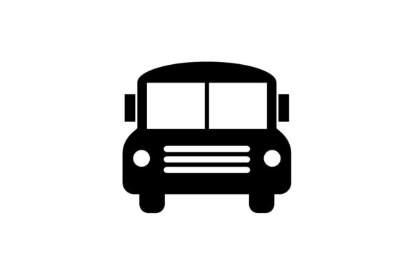 Download Free School Bus Monochrome Icon Graphic By Hoeda80 Creative Fabrica for Cricut Explore, Silhouette and other cutting machines.