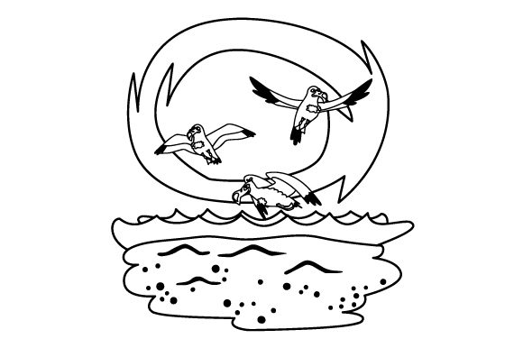 Download Free Seagulls Flying Over The Beach Svg Cut File By Creative Fabrica for Cricut Explore, Silhouette and other cutting machines.