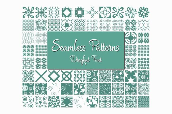Print on Demand: Seamless Patterns Dingbats Font By Eva Barabasne Olasz