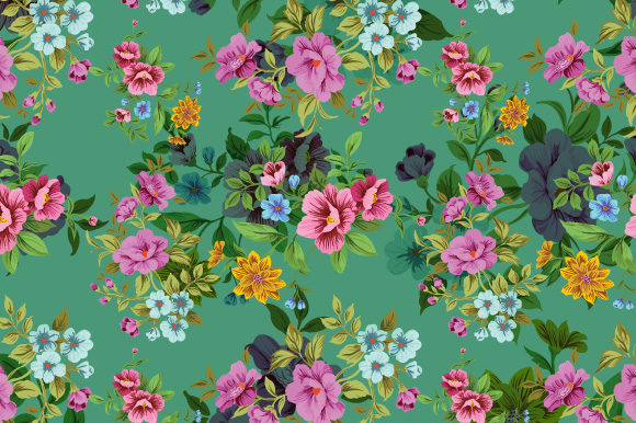Print on Demand: Seamless Floral Pattern Vector Graphic Patterns By iop_micro