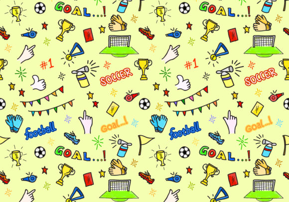 Print on Demand: Seamless Sports Patterns Graphic Patterns By sabavector