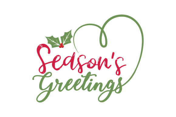 Download Free Season S Greetings Graphic By Thelucky Creative Fabrica for Cricut Explore, Silhouette and other cutting machines.