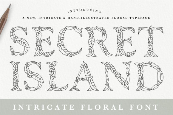 Print on Demand: Secret Island Decorative Font By Calvin Drews