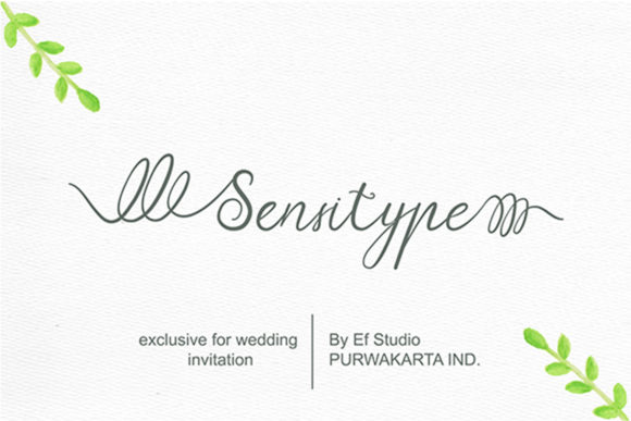 Print on Demand: Sensitype Script & Handwritten Font By Ef Studio
