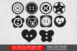 Sewing Button SVG Graphic By Design Palace
