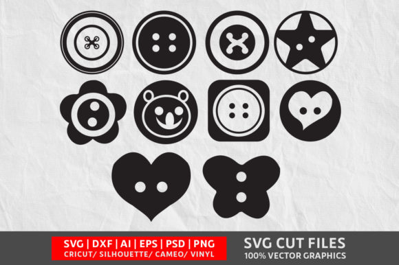 Sewing Button SVG Graphic Crafts By Design Palace