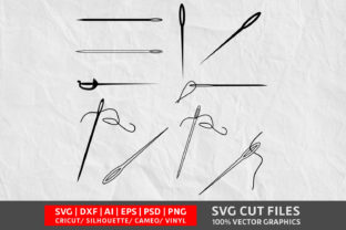 Sewing Needle SVG Graphic By Design Palace