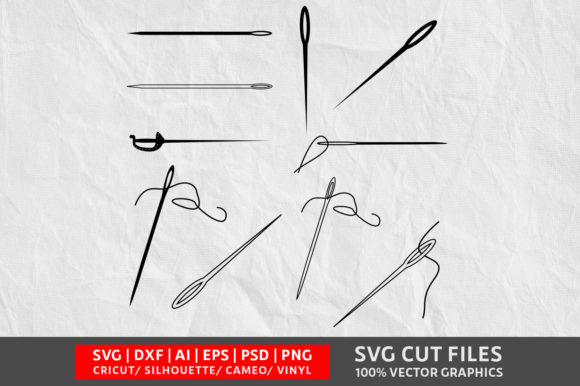 Download Free Sewing Needle Graphic By Design Palace Creative Fabrica for Cricut Explore, Silhouette and other cutting machines.