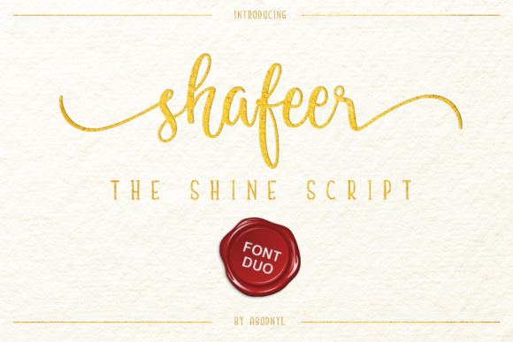 Print on Demand: Shafeer Duo Script & Handwritten Font By Abodaniel