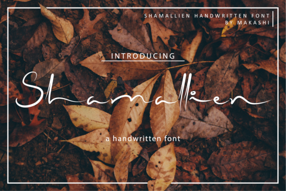 Print on Demand: Shamallien Script & Handwritten Font By kammaqsum