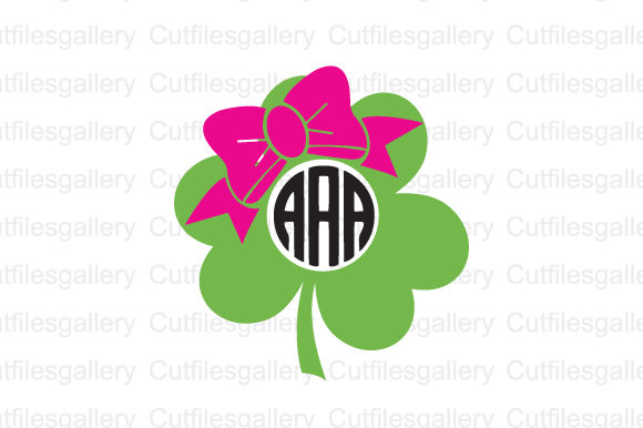 Download Free Shamrock Bow Graphic By Cutfilesgallery Creative Fabrica for Cricut Explore, Silhouette and other cutting machines.