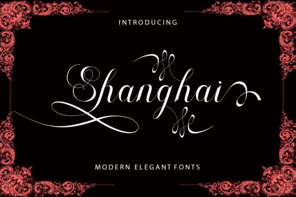 Print on Demand: Shanghai Script & Handwritten Font By sapre.studio