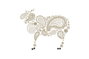 Sheep Made out of Paisly Patterns Paisley Craft Cut File By Creative Fabrica Crafts