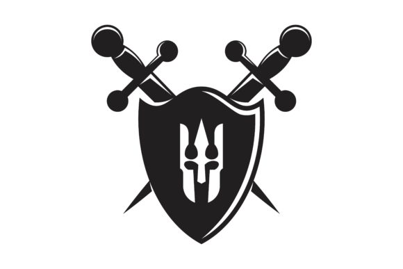 Download Free Shield Sword And Spartan Logo Graphic By Yahyaanasatokillah for Cricut Explore, Silhouette and other cutting machines.