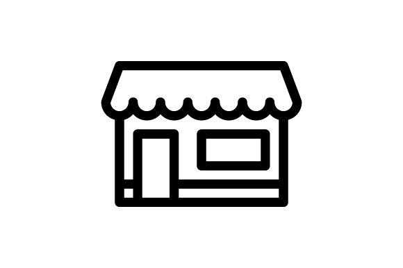 Download Free Shop Store Outline Icon Graphic By Muhazdinata Creative Fabrica for Cricut Explore, Silhouette and other cutting machines.