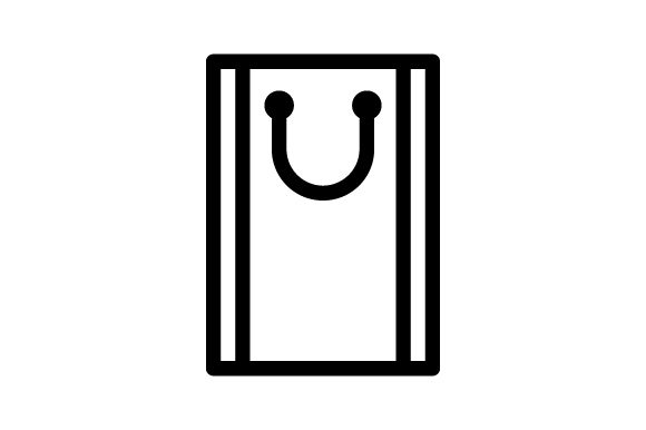 Download Free Shopping Bag Outline Icon Graphic By Muhazdinata Creative Fabrica for Cricut Explore, Silhouette and other cutting machines.